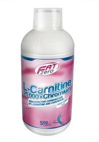 Aminostar FatZero L-Carnitine 25000 + Chromium 500 ml - višeň