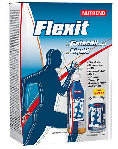 Nutrend Flexit Liquid 500 ml + Gelacoll 180 kapslí - pomeranč