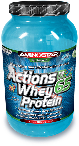 Aminostar Whey Protein Actions 65 - 1000 g - banán