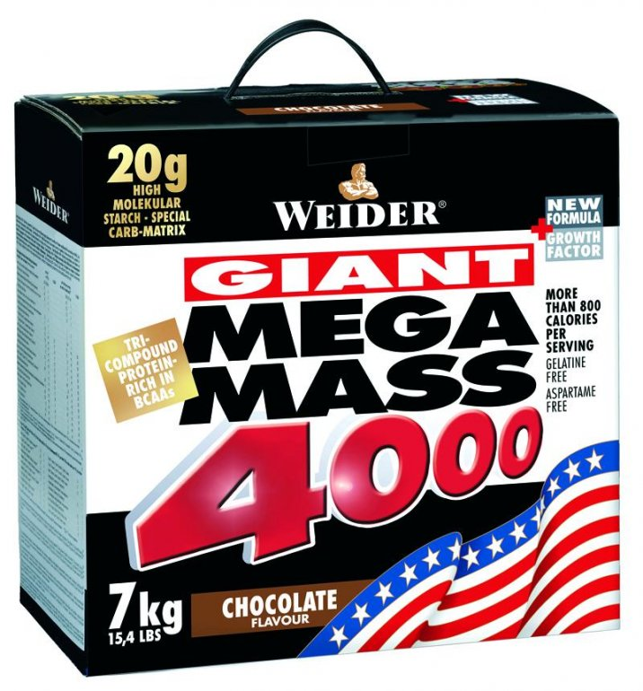 Weider Giant Mega Mass 4000 7000 g - brusinka-jogurt