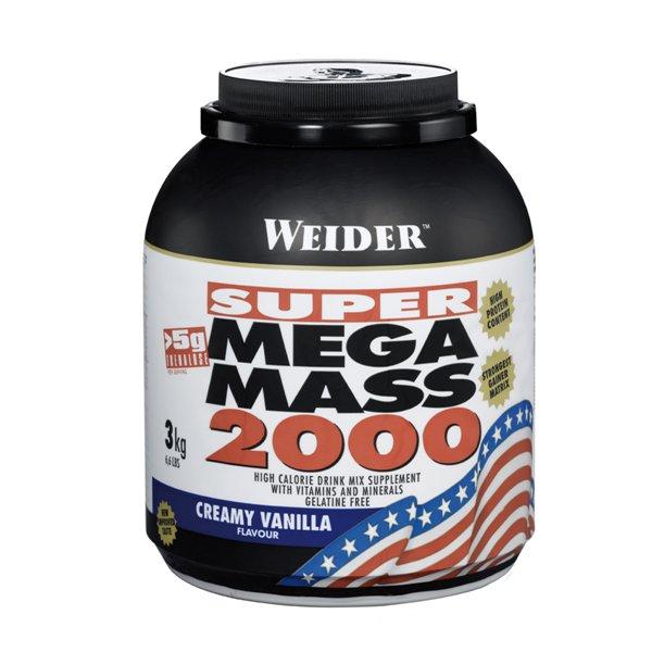 Weider Super Mega Mass 2000 3000 g - jahoda
