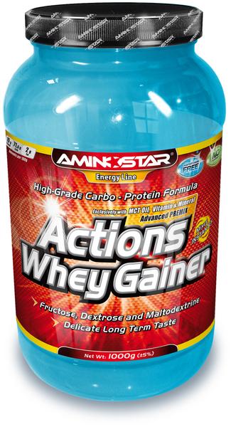 Aminostar Whey Gainer Actions - 1000 g - jahoda