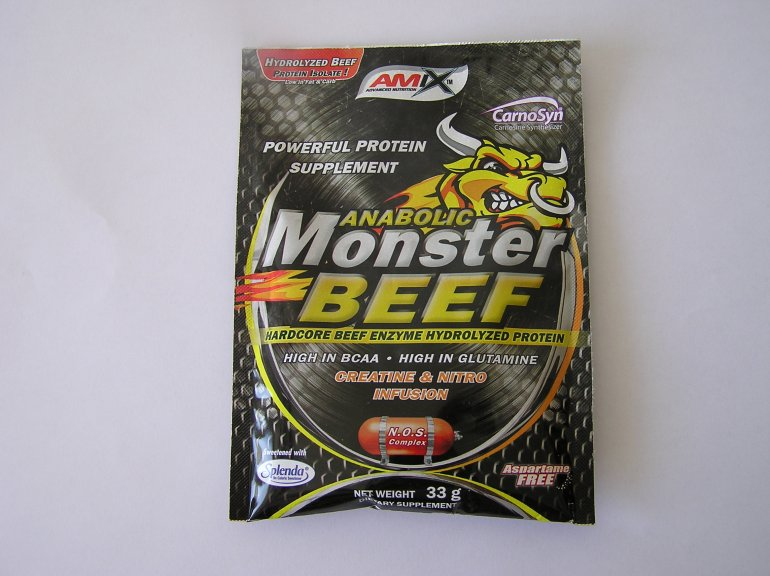 Amix Anabolic Monster beef 90% Protein 33 g - lesní plody
