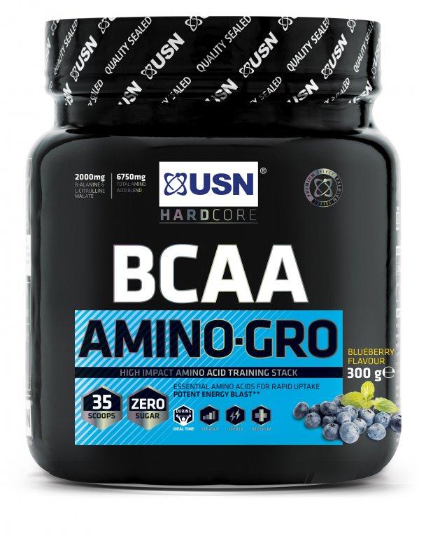 USN BCAA Amino-Gro New 300 g - ovocná směs