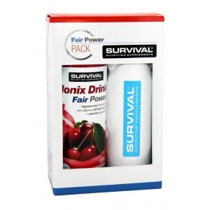 Survival Ionix Drink Fair Power ® 1000 ml + bidon Survival 750 ml - mojito