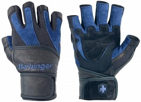 Harbinger fitness rukavice 1340 BIOFLEX WRIST WRAP s omotávkou - šedo-černé - vel. M