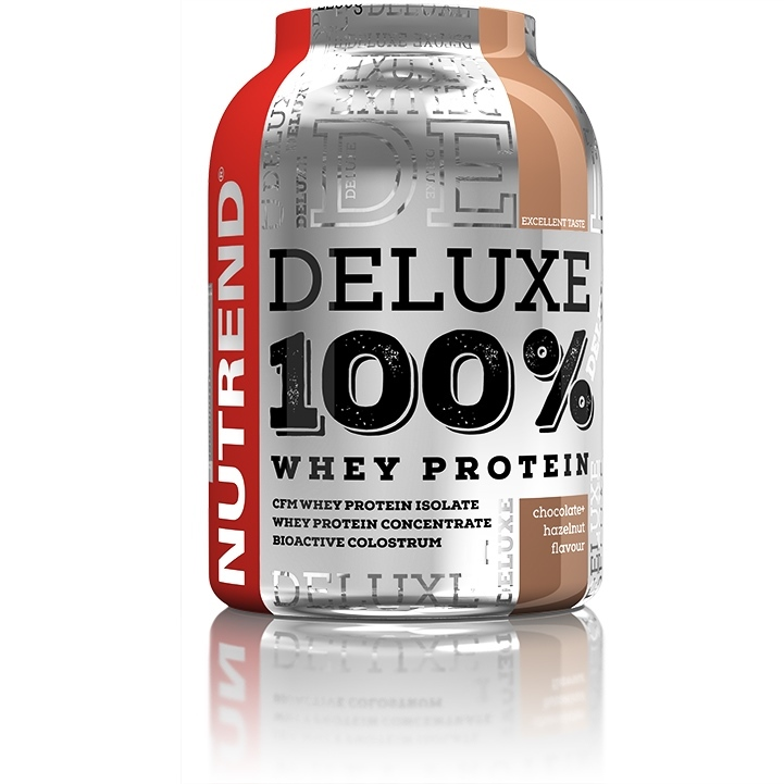 Nutrend Deluxe 100 % Whey - 900 g - čokoláda-mandle