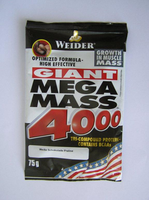 Weider Giant Mega Mass 4000 75 g - jahoda