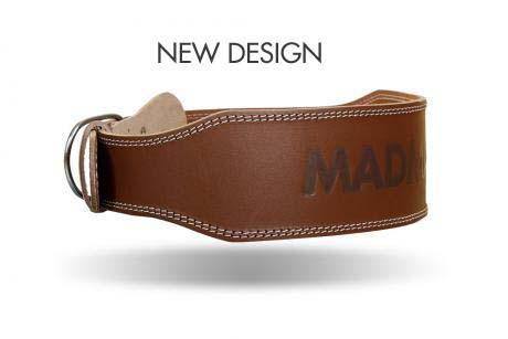 MadMax OPASEK CELOKOŽENÝ - full leather new MFB246 brown - Velikost L