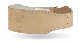MadMax OPASEK CELOKOŽENÝ - full leather MFB246-01 světlý - Velikost L