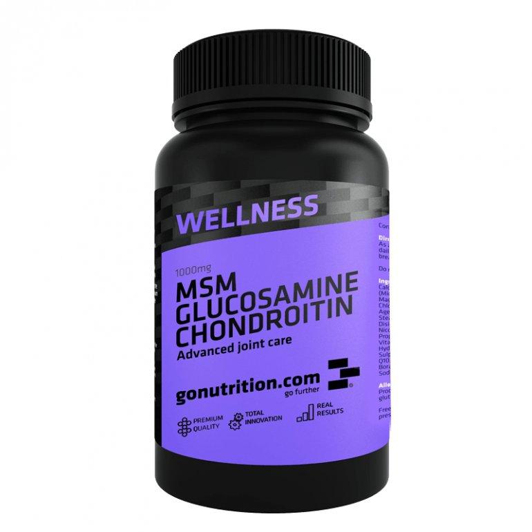 GoNutrition MSM Glucosamine Chondritine 180 kapslí