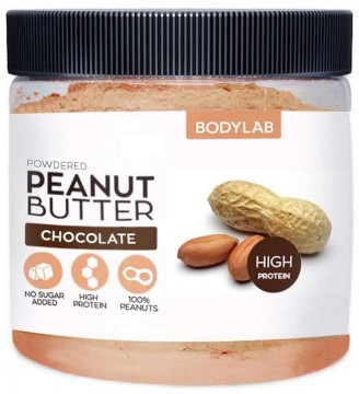 Bodylab Powdered Peanut Butter 200 g - čokoláda