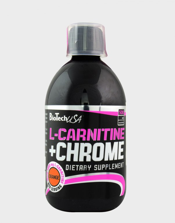 BioTech USA BioTech L-Carnitine + Chrome 500 ml - pomeranč